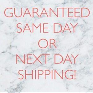 Same day or next day shipping guaranteed!🙆🏻♀️